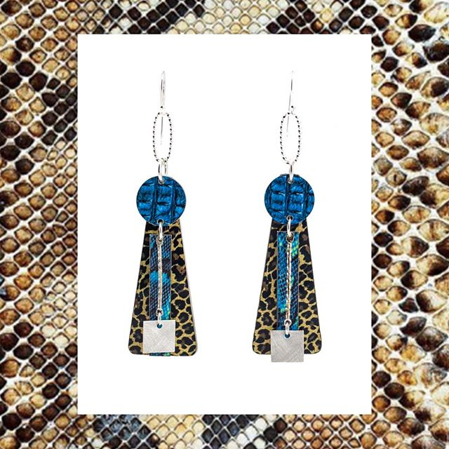 Designs to get wild to from @jennie_riley 🐯⁠ All Australian made from original artworks and recycled materials they're a unique, stunning range of earrings.⁠ Jump over to www.jennieriley.com to shop your favourite styles while they last! 💻⁠ ⁠ #australianmade #handmade #lennoxhead #designer #jewellery #fashion