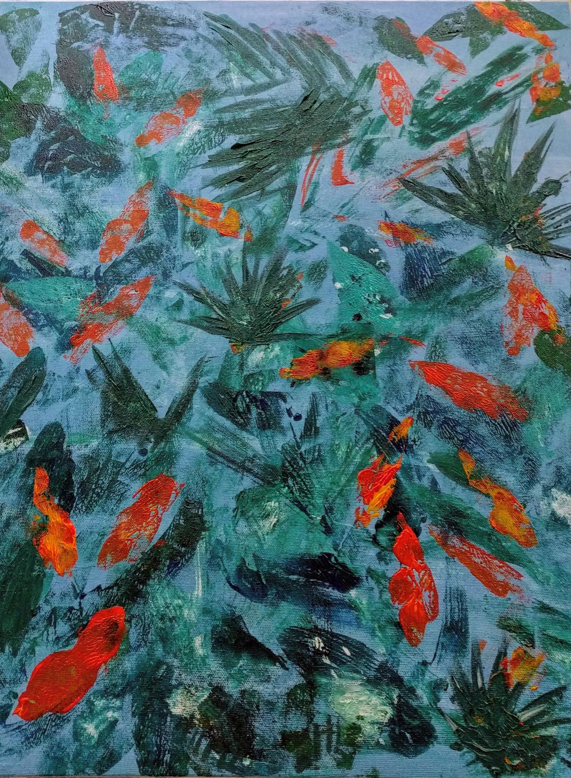 Pond. Acrylic on canvas