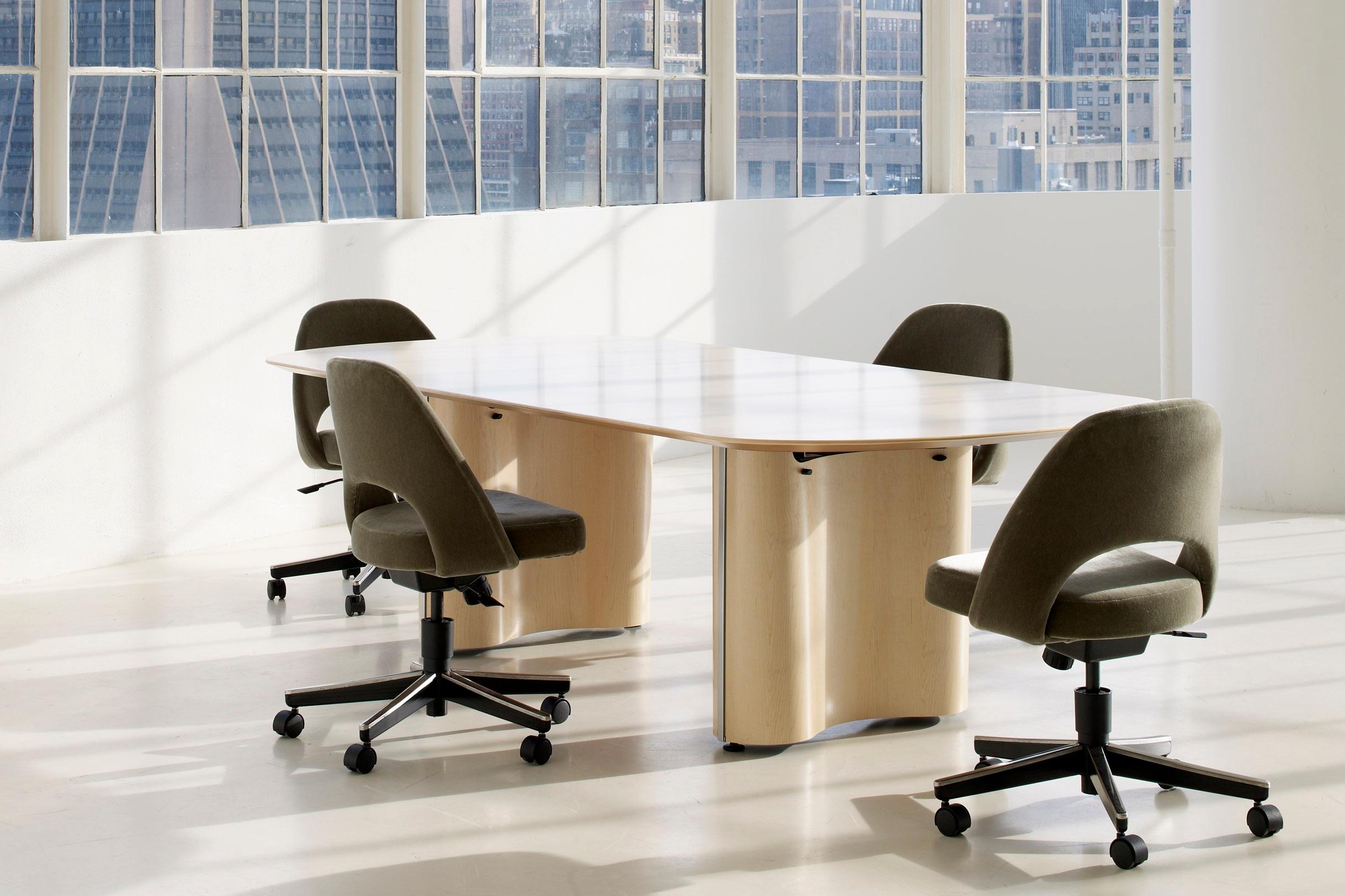 $$ - Propeller Rectangular Conference Table, Peanut Base
