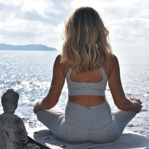 Meditation du matin, Cavalaire-sur-Mer