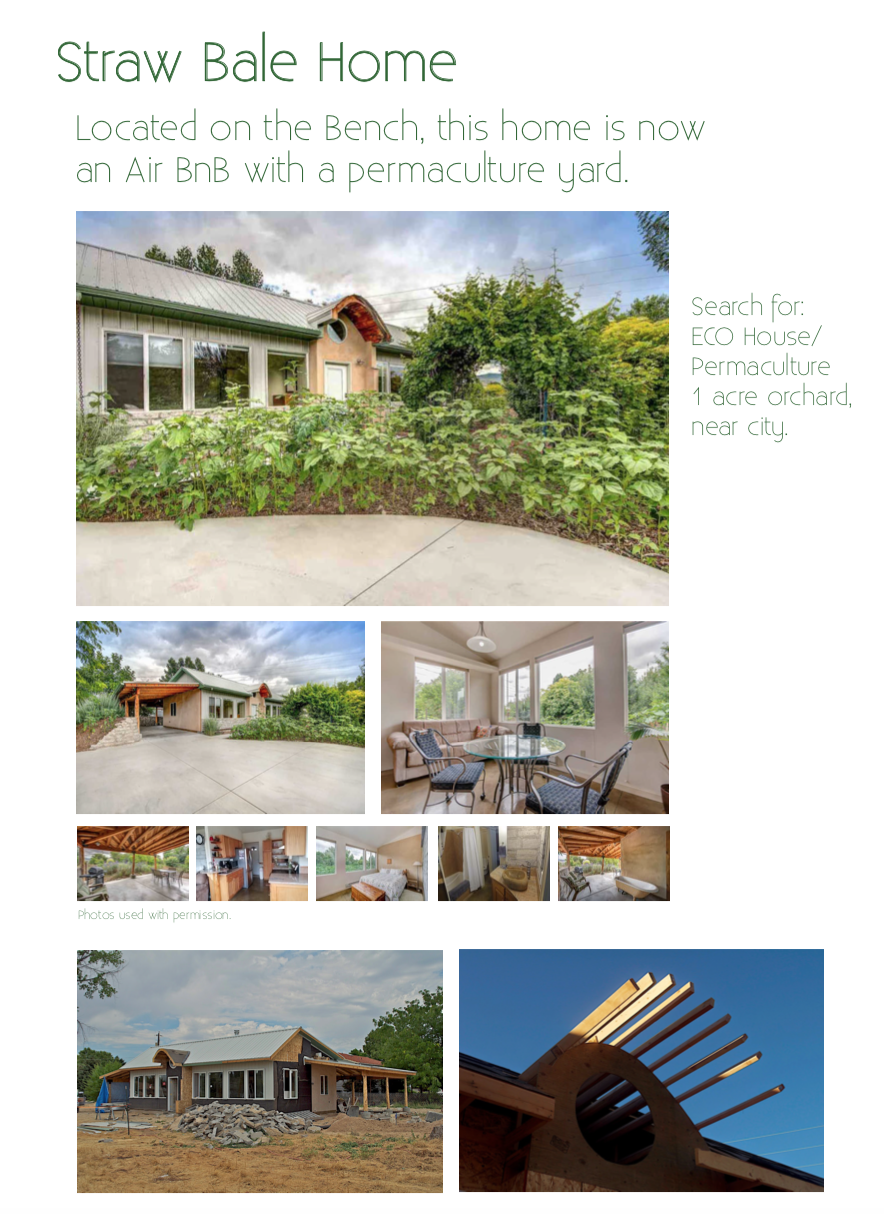One of a series of posters we hang at the market to assist in discussing Straw Bale home designing and building.