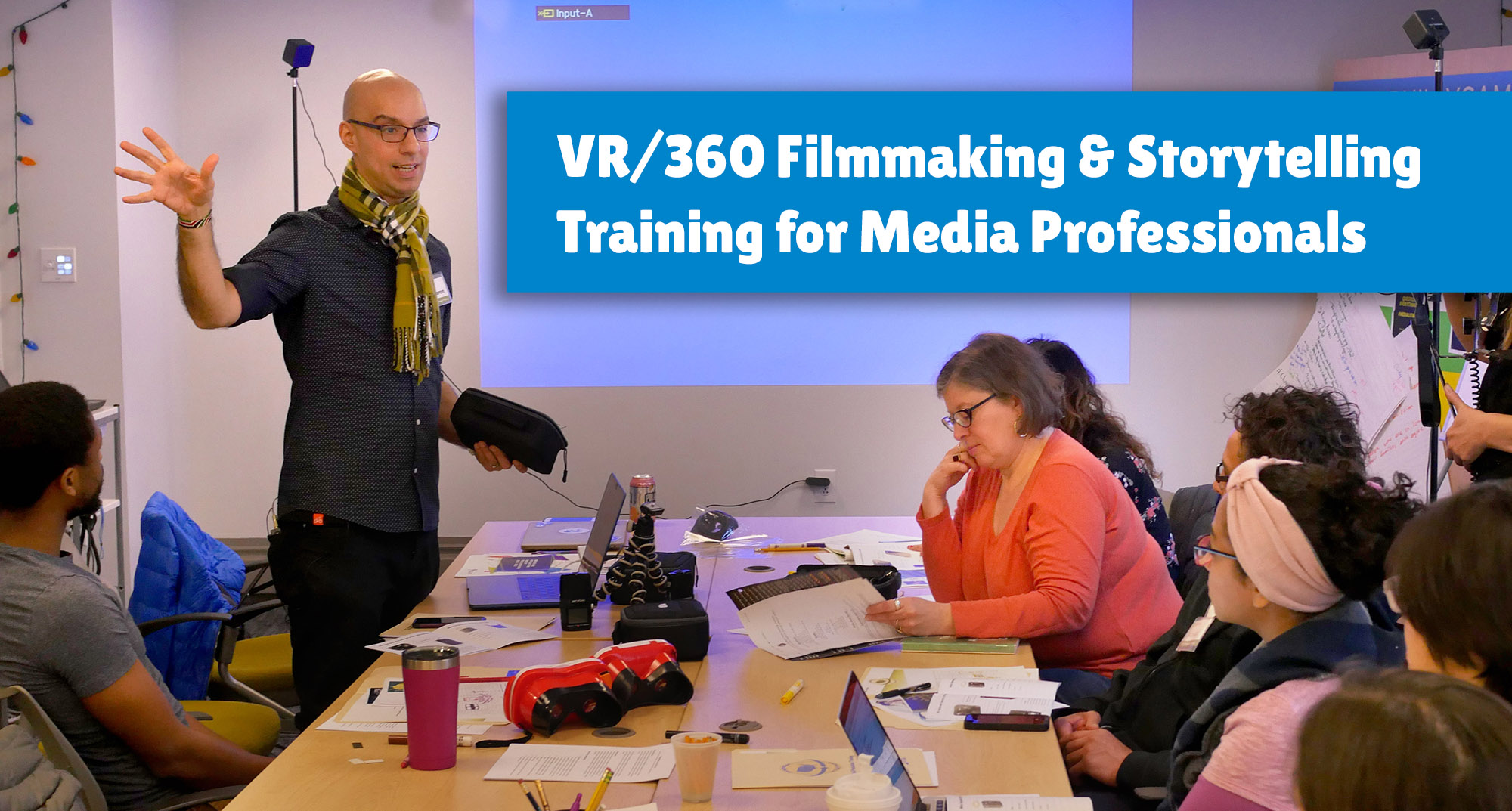 Everyone can learn VR - Join us on Thursday, August 22nd, 2019 from 9:30-4:30pm in the greater Boston metro area to learn the basics of VR storytelling, understand how emerging media is different than traditional storytelling, journalism, and learn filmmaking tips, trick, equipment and editing with our supportive and expert trainers! This session is focused on supporting educators, media makers and creators.Tuition: $200; partial scholarships are available. Discount for ACM members.Register here