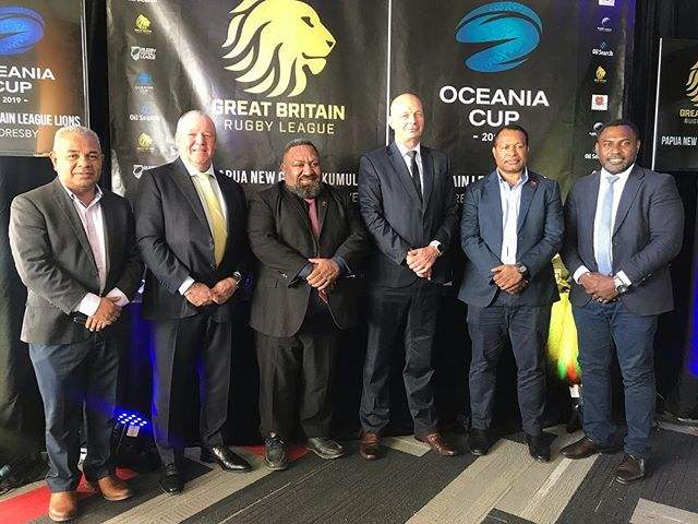 PHA would like to congratulate our partner PNGRFL for the second launch of the PNG International Rugby League 2019 Calendar that was held today at the Oil Search National Football Stadium in Port Moresby.  This launch saw the announcement of the inaugural Oceania cup 2019 and specifically to highlight the Great Britain Rugby League Lions tour of NZ and PNG , which is the first time in 13 years  in the Southern Hemisphere for the Lions. The Launch also recognised the inclusion of NZ, Australia, Tonga, Samoa , Fiji and PNG.  PNG will host the international fixture scheduled for 16th November 2019.  PHA is excited to partner with the PNGFRL Kumuls particularly in providing personal accident protection cover to all registered players and officials. PHA believes this will contribute to the ample preparation that the PNG Kumuls will need to play their best in the Oceania Cup 2019.  We congratulate all the parties involved and commend your efforts to bring more international rugby league content in for PNG and the fans. . . . 📸 PC L-R : PNGRFL CEO Reatau Rau, RLIF GM Southern Hemisphere Jeremy Edwards, PNGRFL Chairman Sandis Tsaka, NZ RFL CEO Greg Peters, PNG Minister for Immigration & Boarder Security Hon. Petrus Thomas and PNG Sports Foundation CEO Peter Tsiamalili Jnr