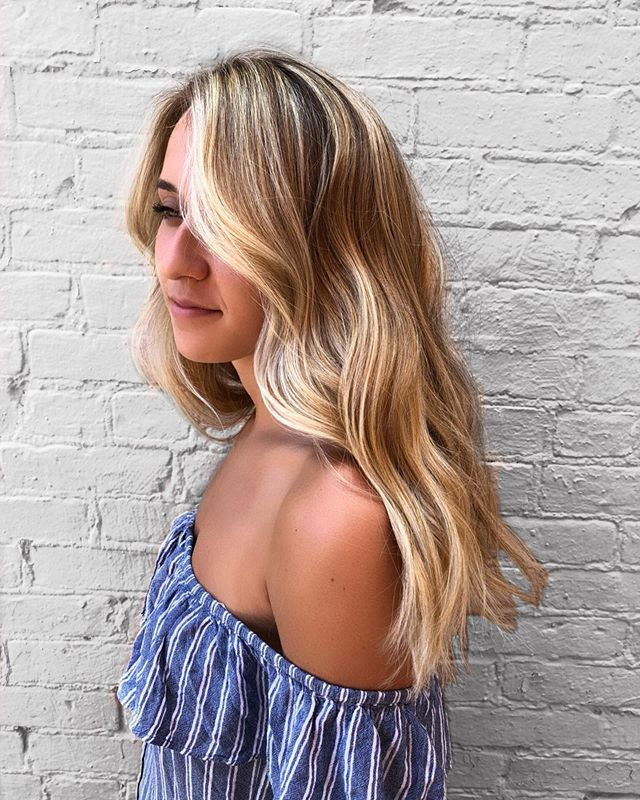 ROSIE 🌹 super dimensional, ultra beachy blonde on my girl @rosiebarry_ // baby light and Balayage technique combination inspired by @prettylittleombre @_saltsociety (depth placement anyone?!) babylight with @wella Blondor, Balayage with Freelights, Toned with Illumina (10.0+7.81). using @framar foils and brushes. And as always styled with all @amika ✨*photo editing info to be posted in my story shortly // PSA: hair NOT edited* • • • • #brunettebalayage #balayage #repigmentation #coolbalayage #1000orbust #hairgoals #eclecticmadness #modernsalon #americansalon #behindthechair #hairinspo #liscensedtocreate #brunettehair  #wellahair #illuminacolor #dchair #marylandhair #virginiahair #fuckinghair #georgeotownhair #dcstylist #dccolorist