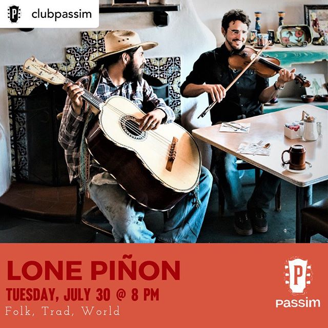 In Boston/Cambridge, MA!  W @ampkiller on upright. Posted @withrepost • @clubpassim We are beyond excited to welcome Lone Piñon to the Passim stage tonight - an acoustic conjunto from Northern New Mexico whose music celebrates the integrity of their region's cultural roots. Catch them at 8pm, doors at 7pm.  Grab tickets at the link in our bio!