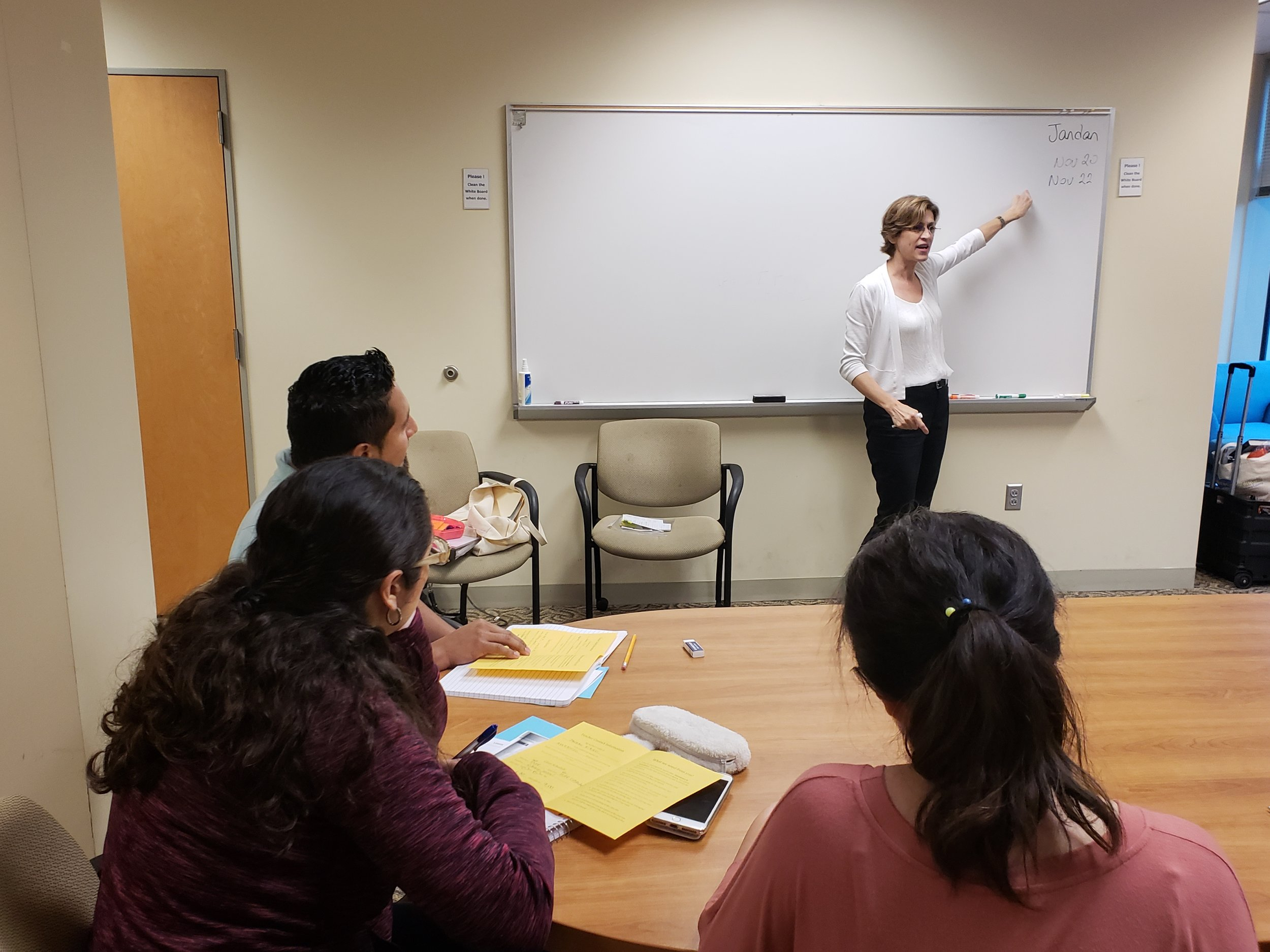 One of LCMC's free ESL classes, Fall 2018