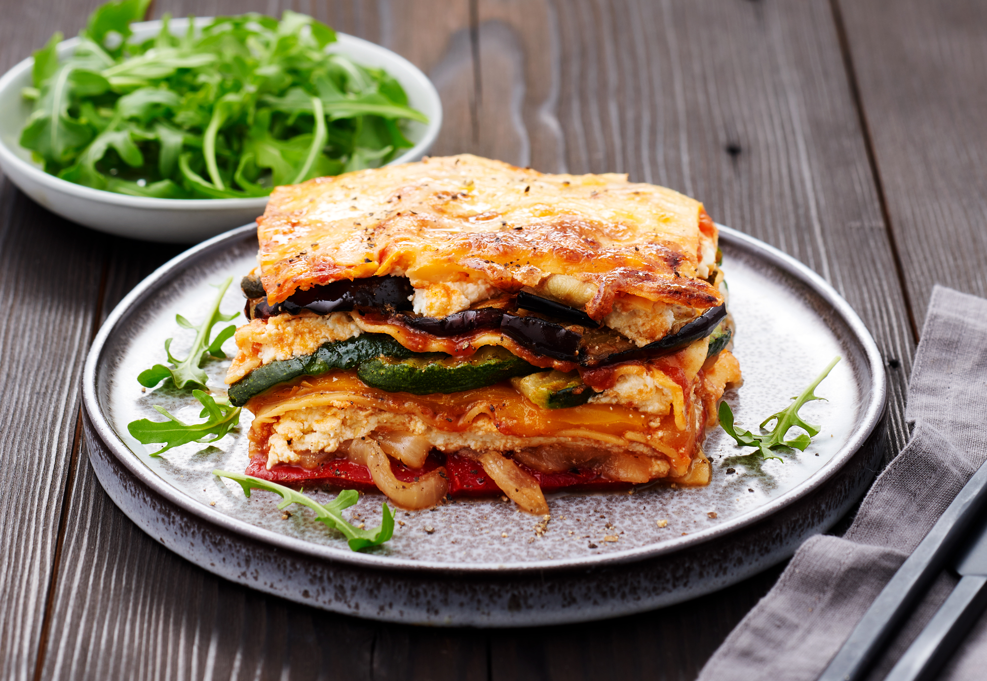 Charred Vegetable Lasagne using Edgell's chef's grill chargrilled vegetable range