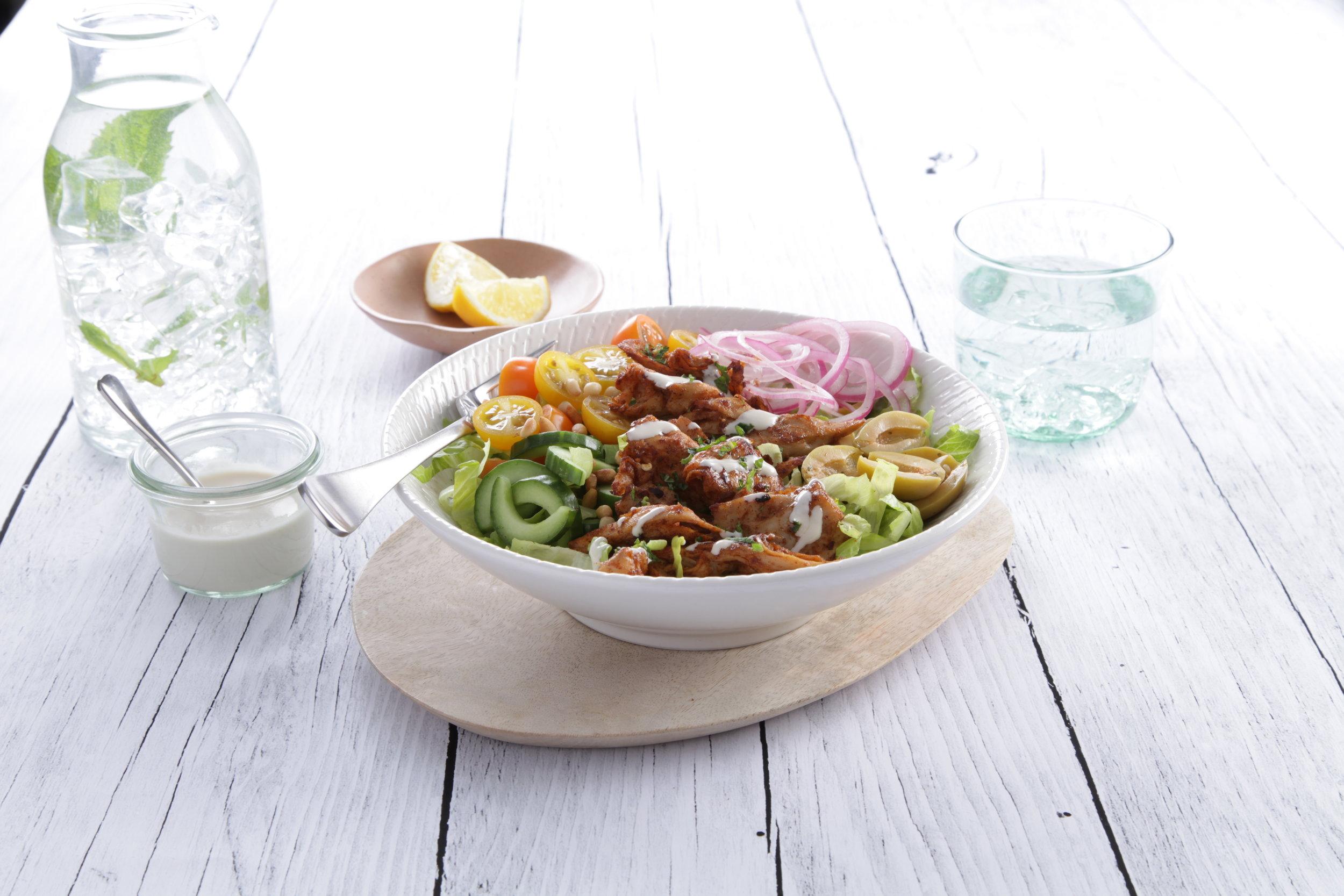 Vegan Chicken Tahini Bowl wuth Sauce.JPG