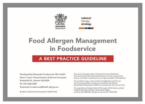 Food Allergen Management - Best Practice Guide
