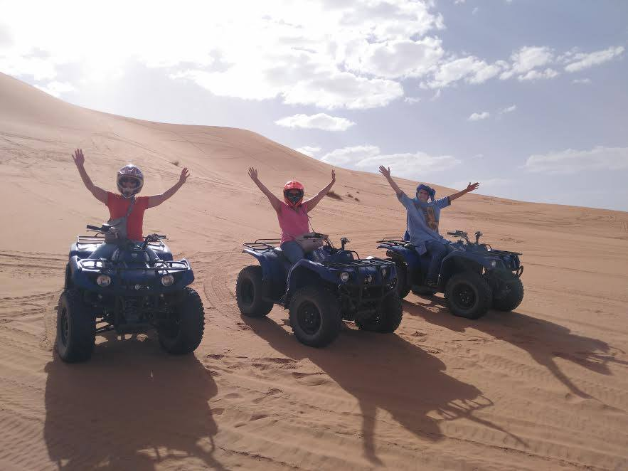 All-terrain Vehicles (ATVs) - Want to try more exciting activity? Riding all-terrain vehicle (ATV) (also called quad) is another choice of popular activities in the desert.