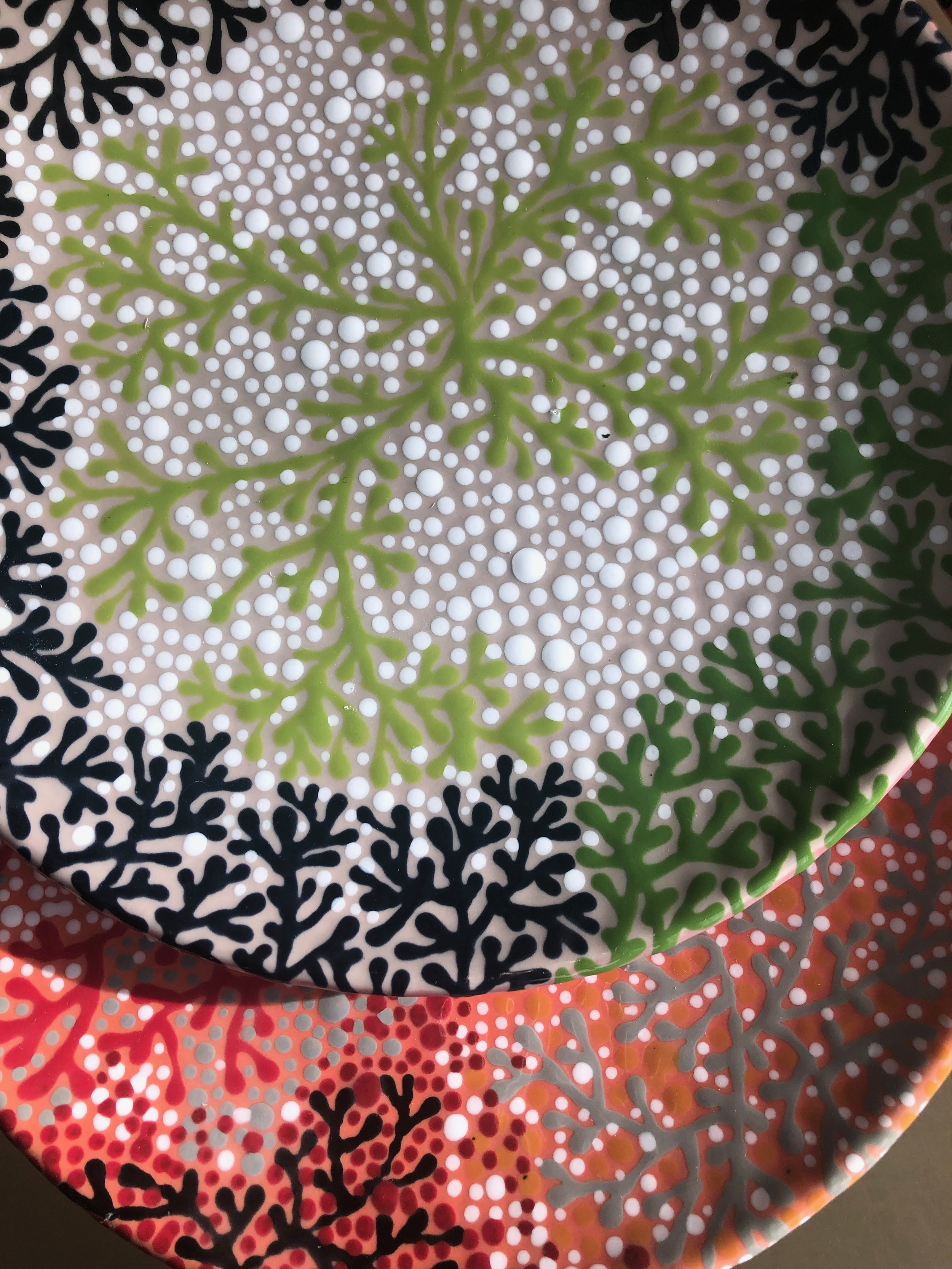 TWIGGY PATTERN WITH DOT WORK SALAD PLATE