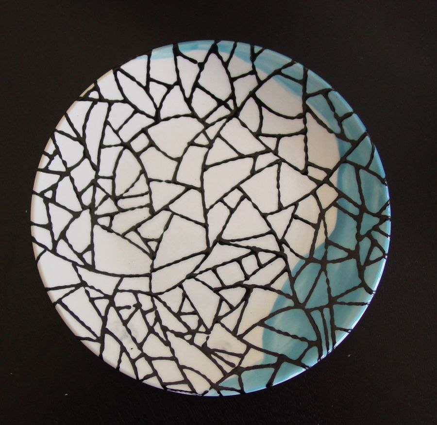 CRAKED ICE PATTERN DINNER PLATE