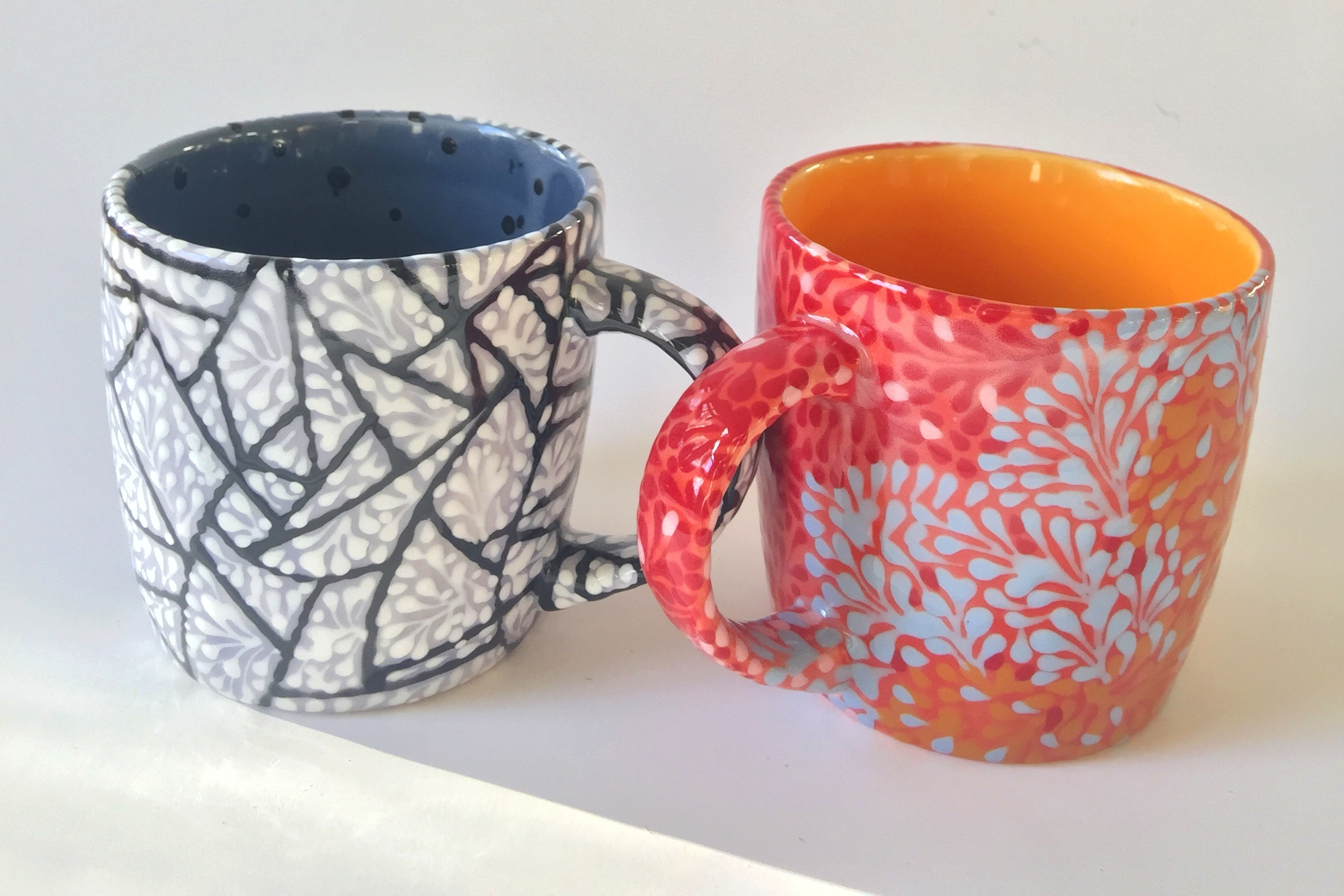 CRACKED ICE AND SPRIG MUGS