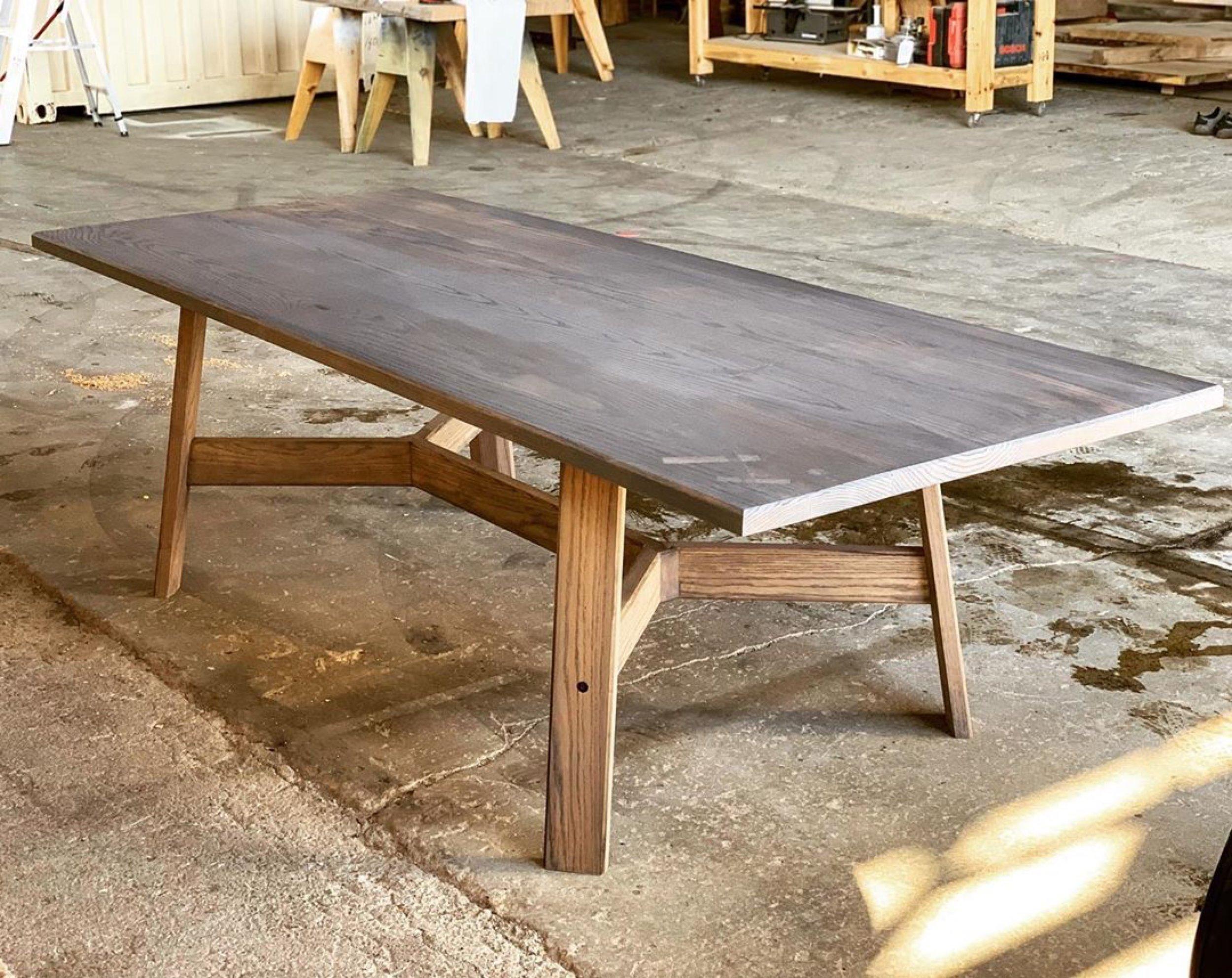 Midcentury Oak Dining Table