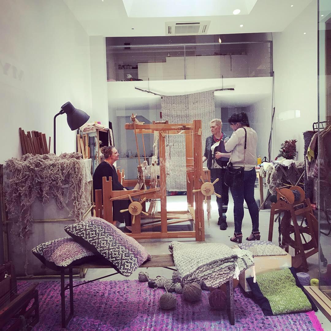 Artist Deb Weston in her new shopfront studio and boutique.