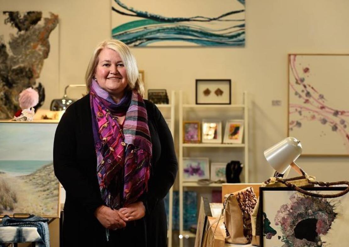 Kate Wise in her retail workshop in Block Arcade, Ballarat Central