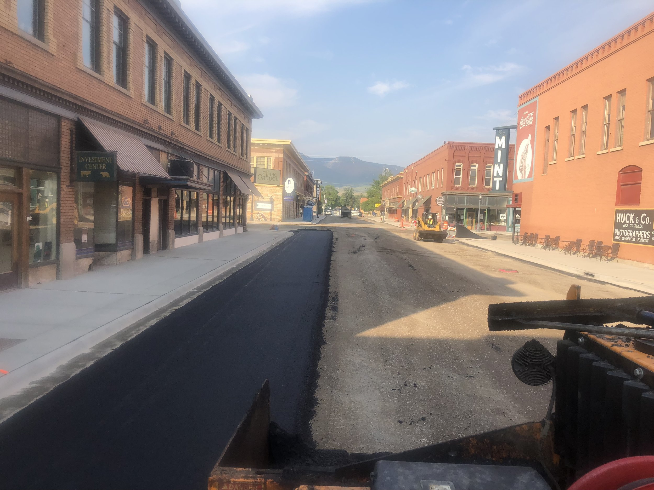 Downtown Livingston Paving