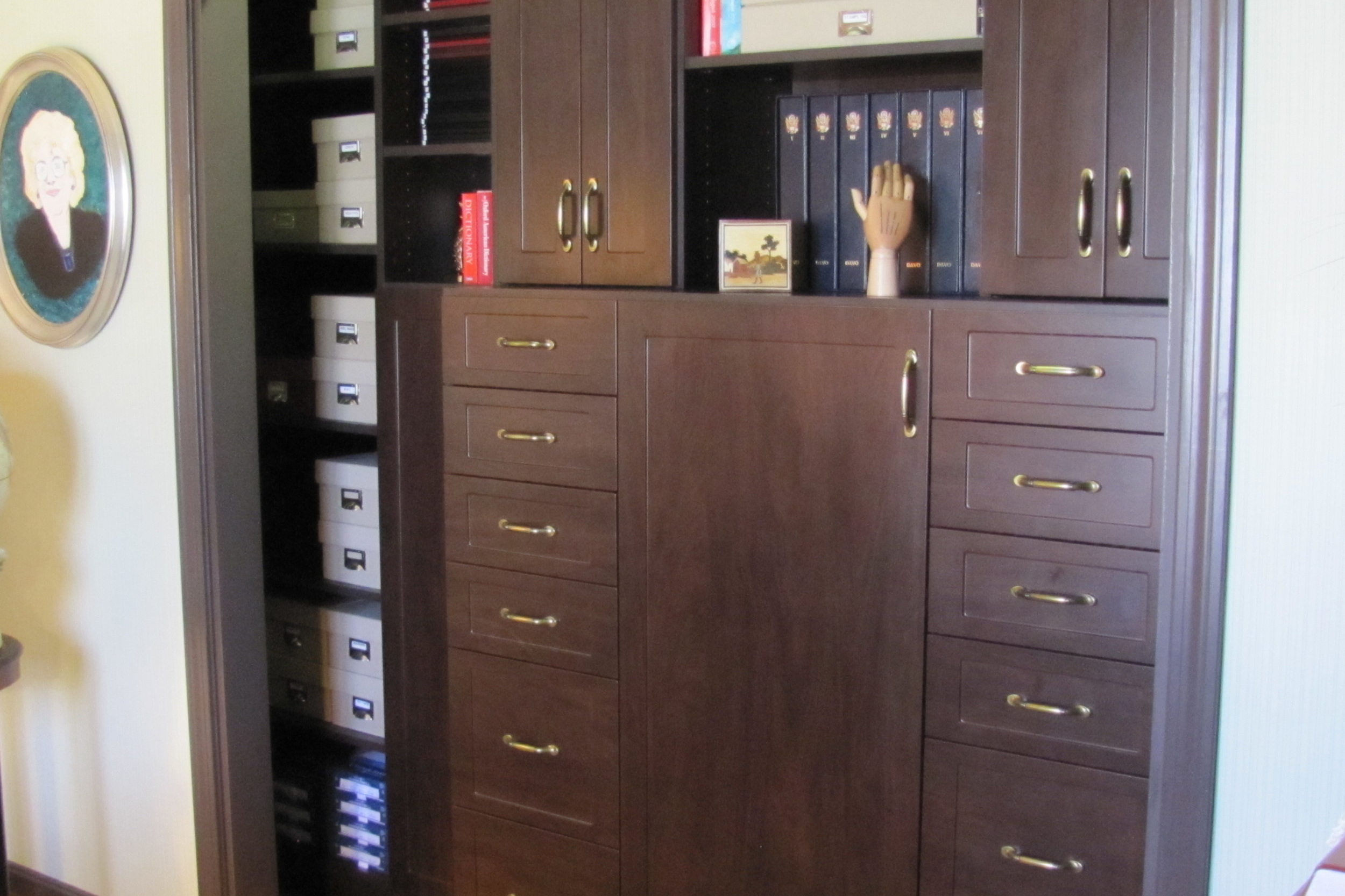 ChocolatePear-wood_OfficeCloset_SpecializedDrawers.JPG