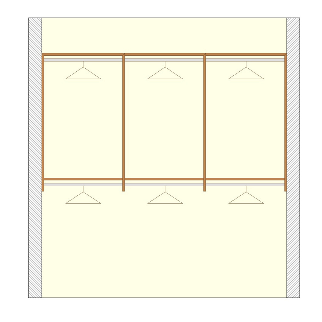 Upper & Lower Hanging Options - Basic Walk In