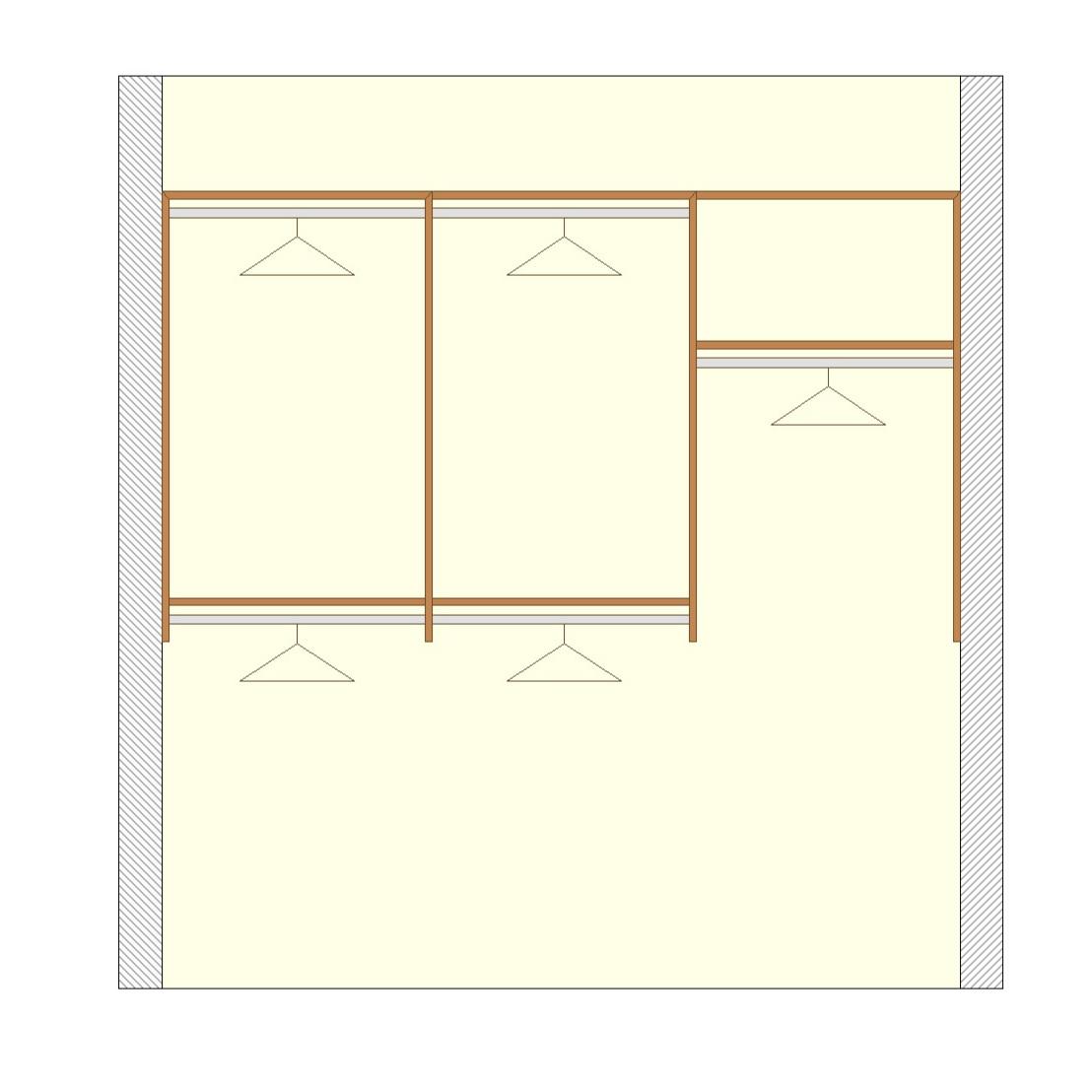 Short & Long Hanging Options - Basic Walk-In
