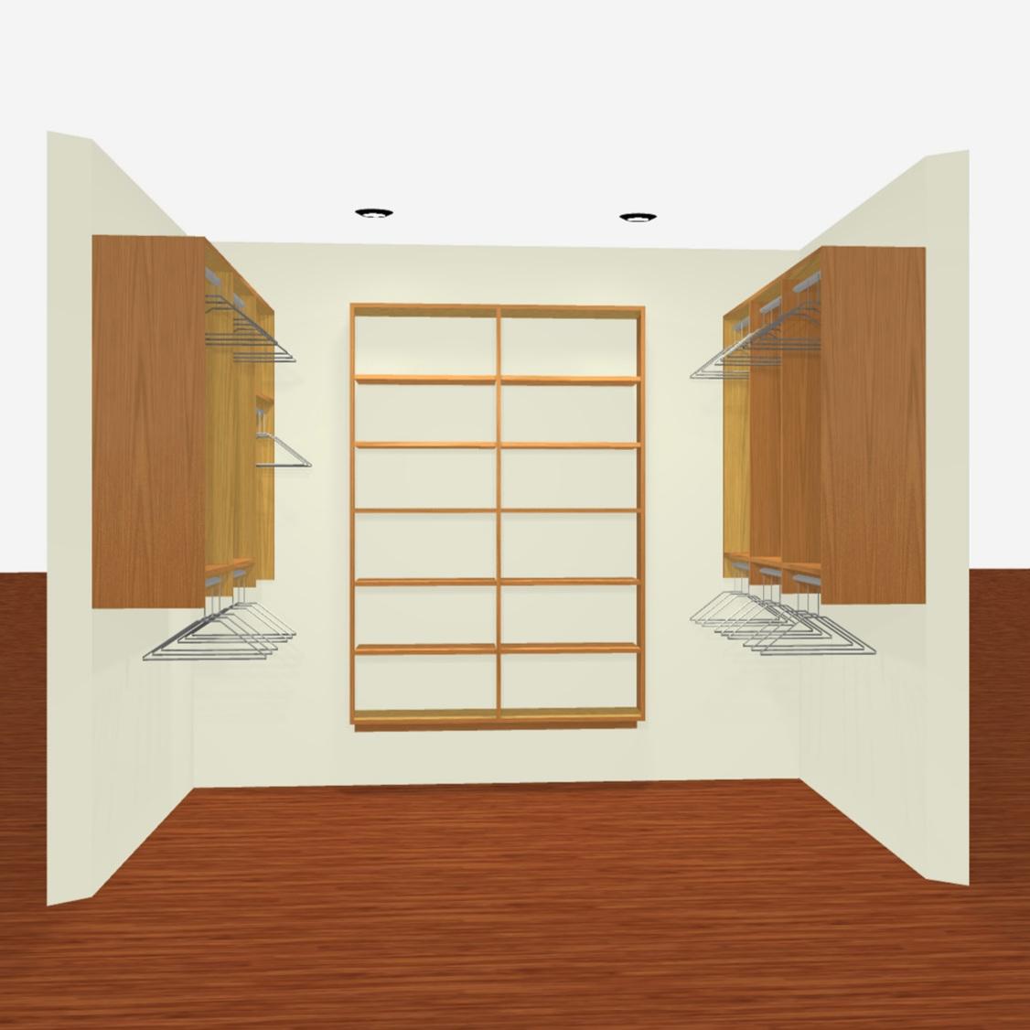 3D Render - Basic Walk-In Closet