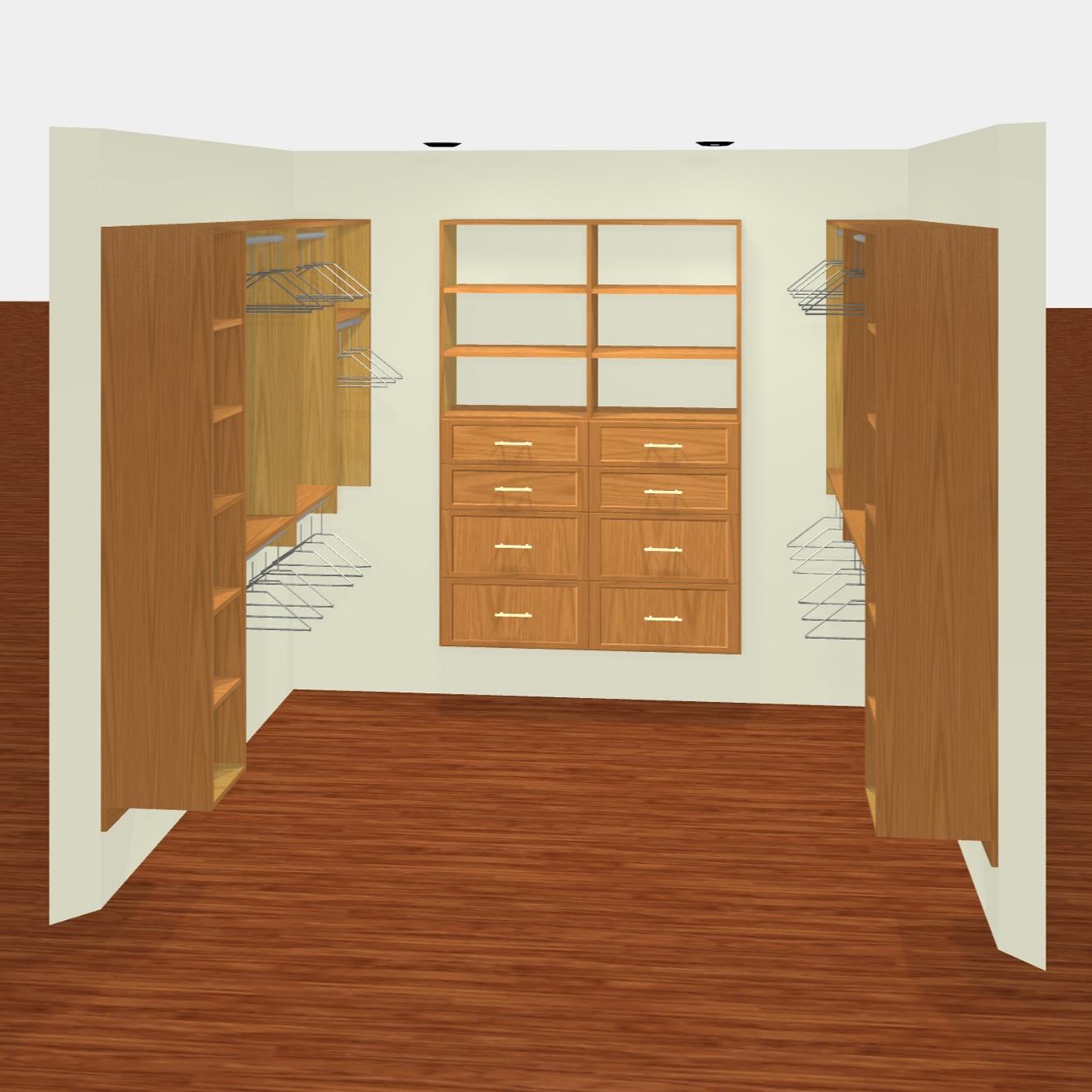 3D Render - Premium Walk-In Closet