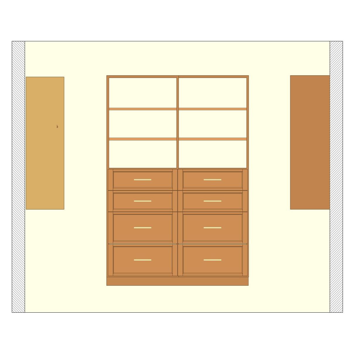 Shelving & Drawer Unit - Premium Walk-In Closet