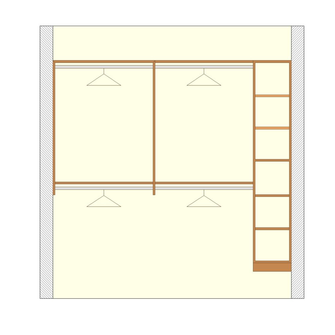 Hanging Racks & Shelving Unit - Premium Walk-In Closet