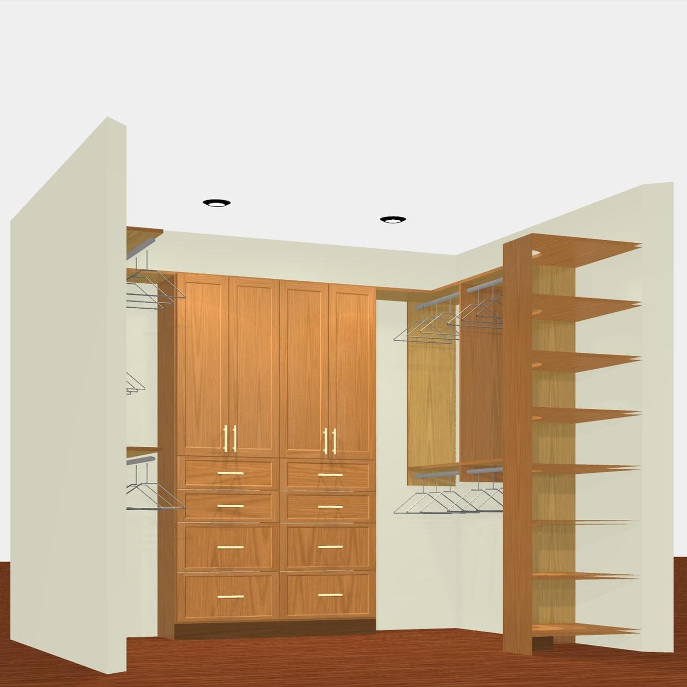 3D Render - Deluxe Walk-In Closet (view 1)