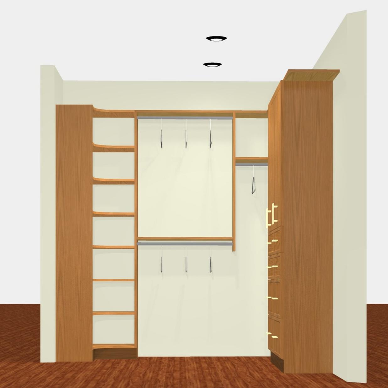 3D Render - Deluxe Walk-In Closet (view 2)