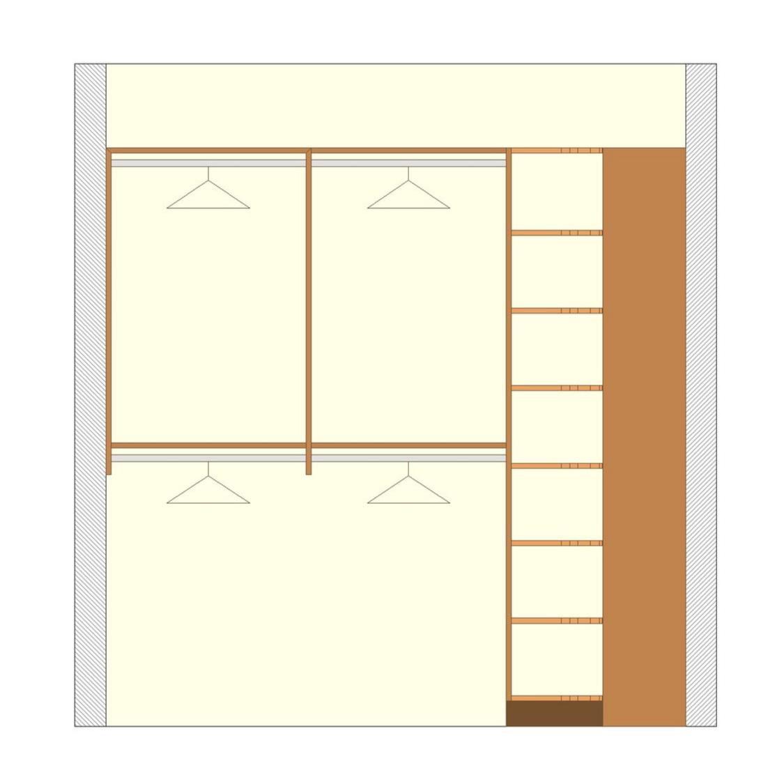 Hanging Racks & Radial Shelves - Deluxe Walk-In Closet (view 1)