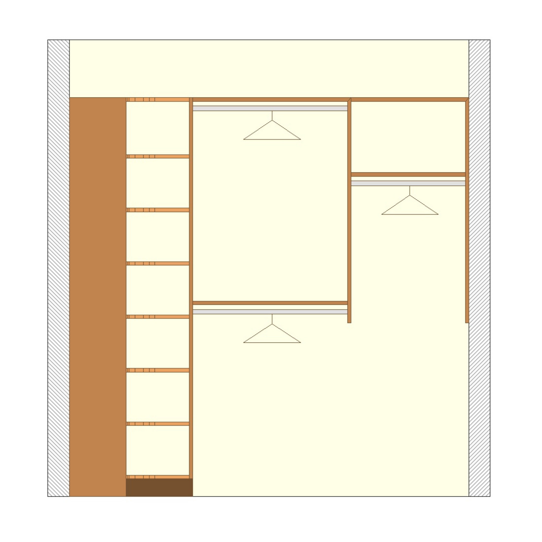 More Shelving & Hanging Options - Deluxe Walk-In Closet