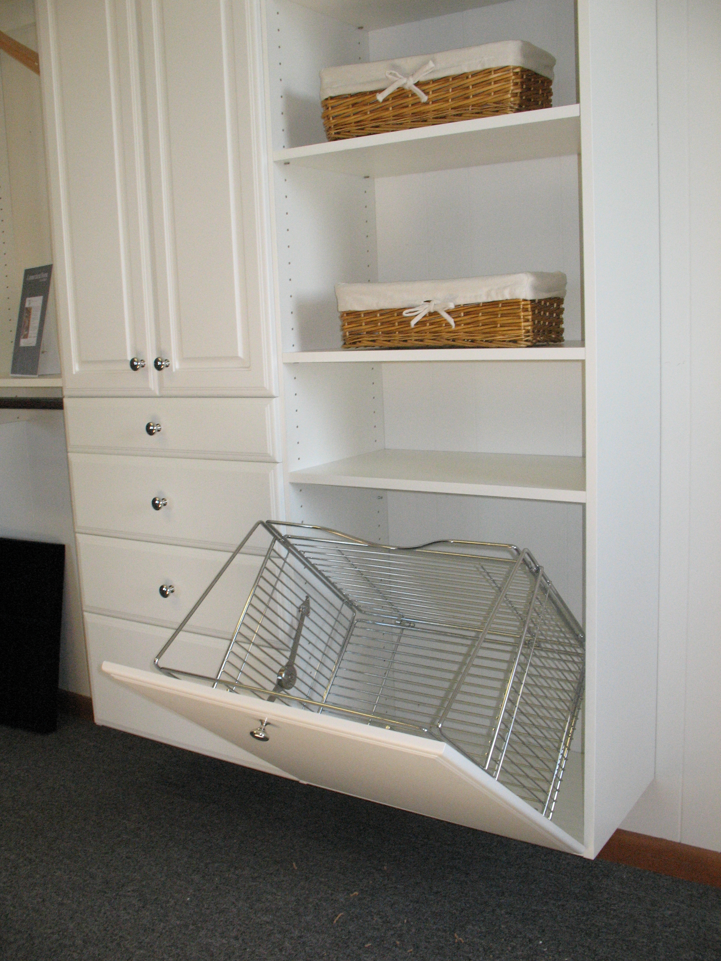 Pull-Out Hamper in Cabinet