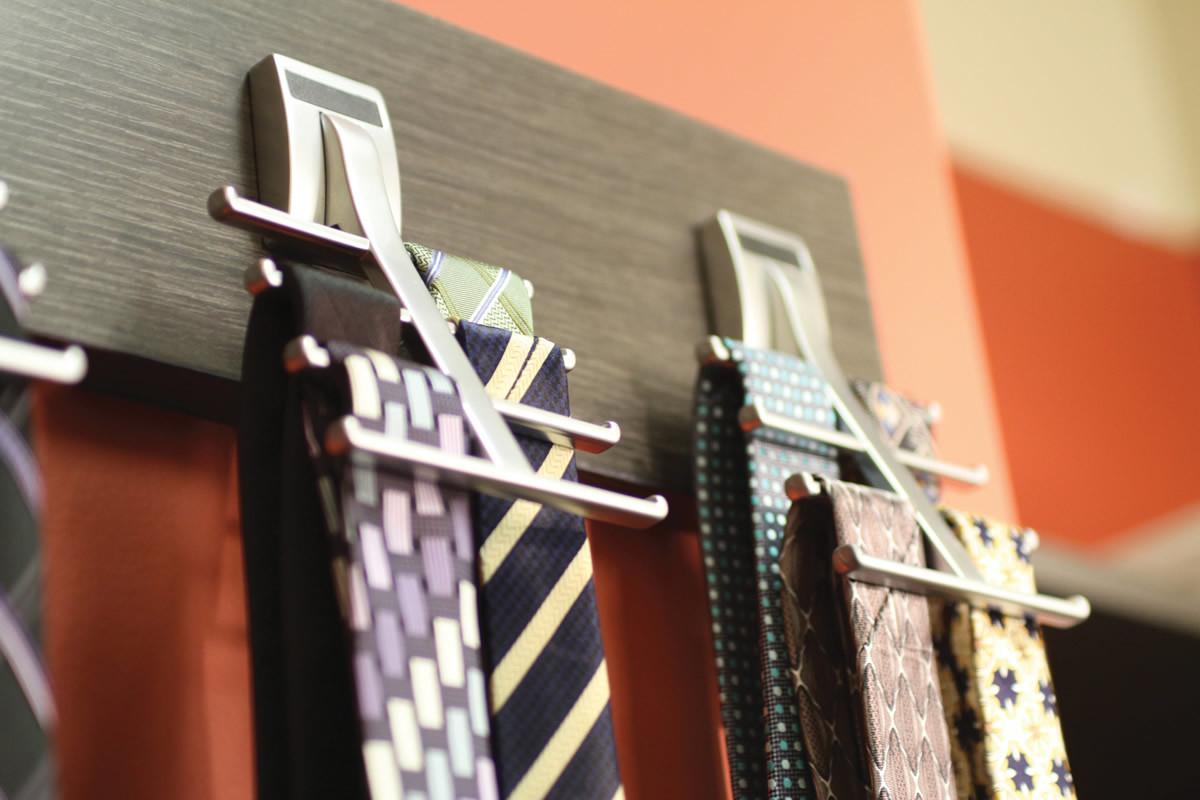 Contemporary Tie Rack