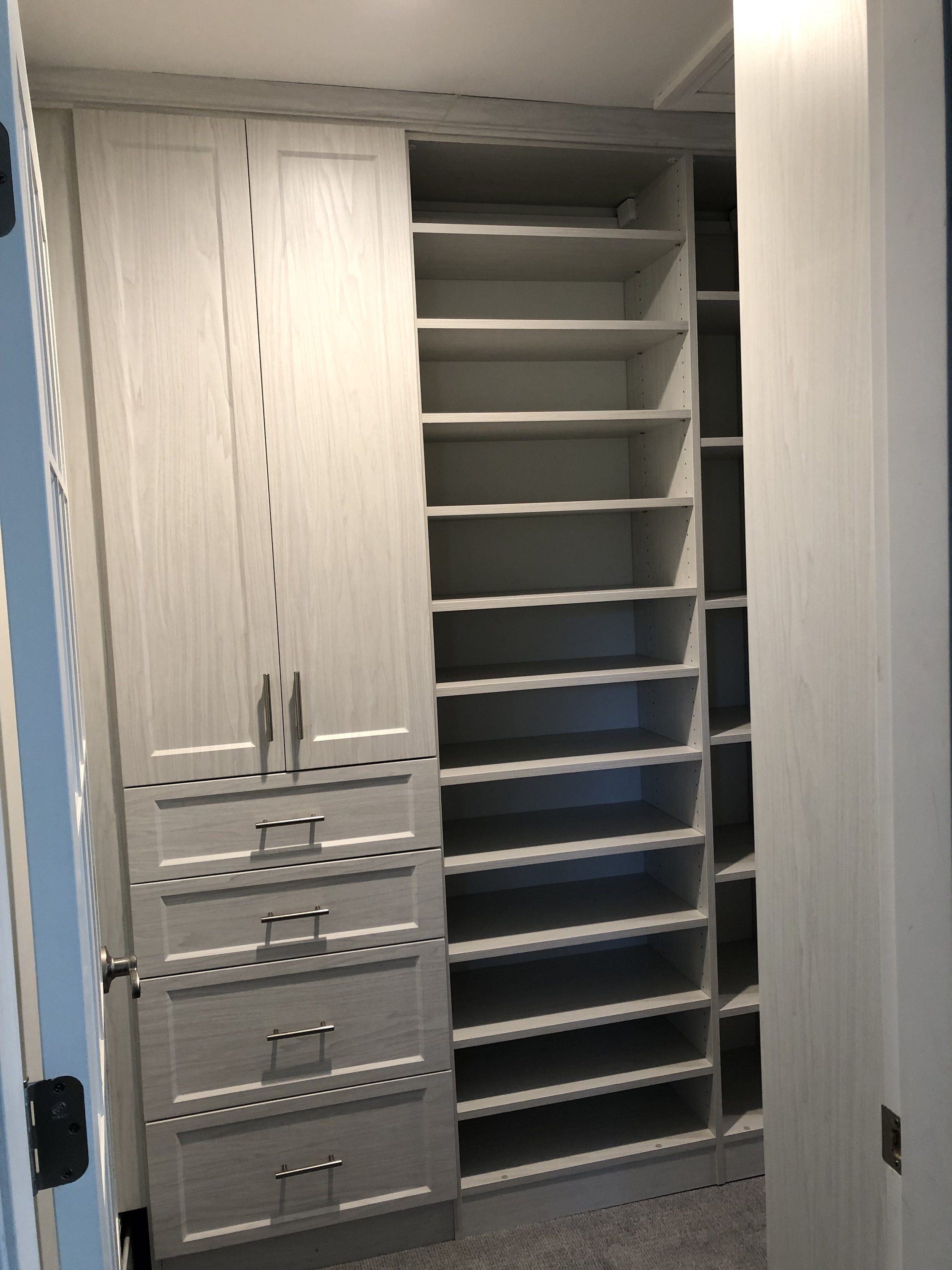 Winter Fun Walk-in with Shaker-style Doors and Shoe shelving