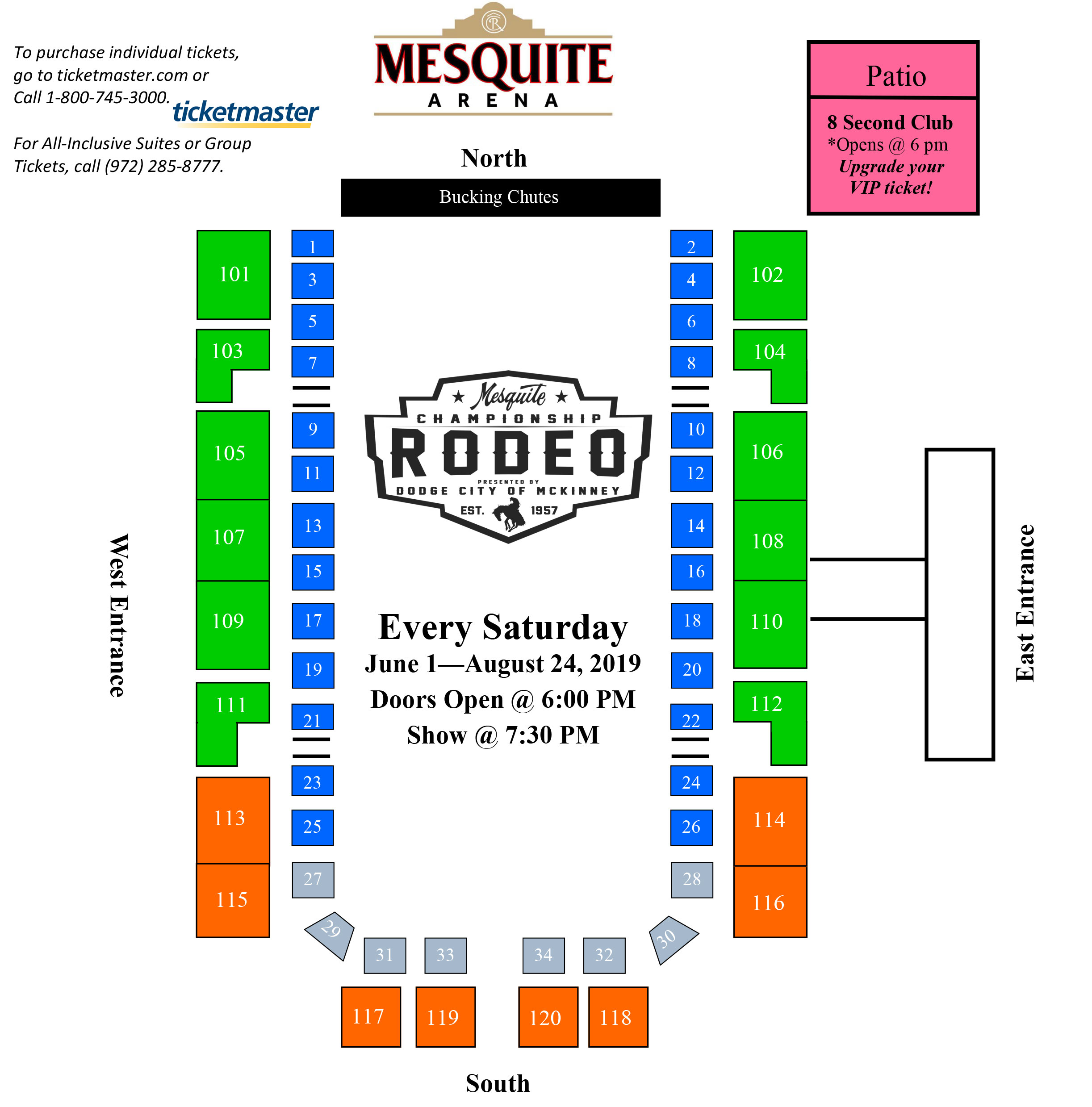 Seating Chart — Mesquite Rodeo