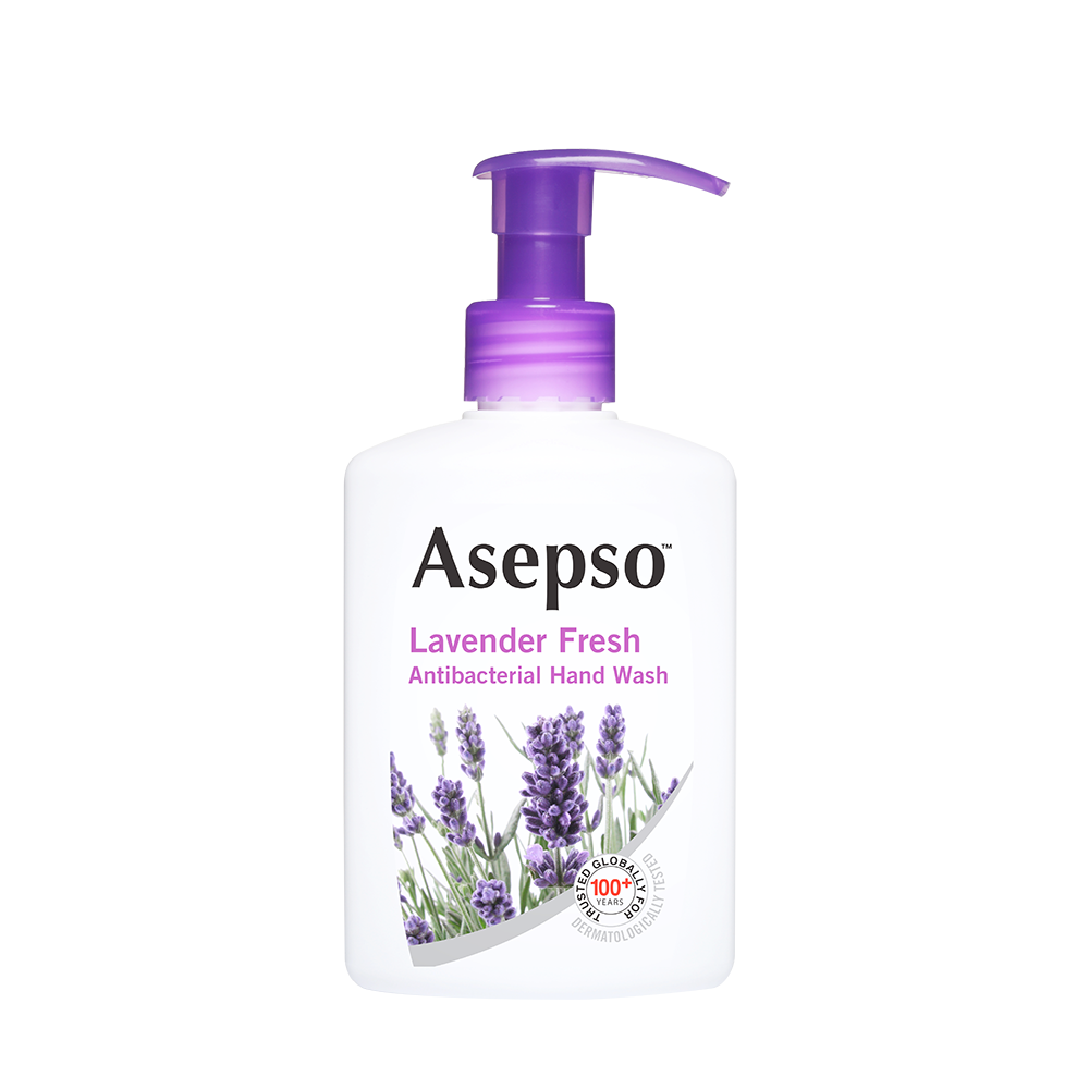 LAVENDER FRESH - It contains a proven antibacterial agent indulged in a soothing fragrance, combined with a gentle moisturising formula, leaving your hands feeling clean and smelling fresh with each wash. Use Asepso™ Lavender Fresh Hand Wash to feel healthy, fresh and clean every day.Available in 250ML