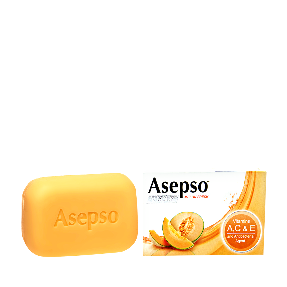 Melon Fresh Bar Soap - Vitamins A for anti-agingVitamin C to brighten skinVitamin E for nourishment and moisture Fortified with Melon Extracts