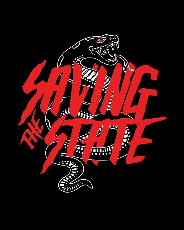 We recently got a fresh new logo that you can get on shirts! Pre-order these bad boys before they are gone on savingthestate.com ( Link in our bio ) These dope designs were made by @stevenromero___  give him a follow for more.