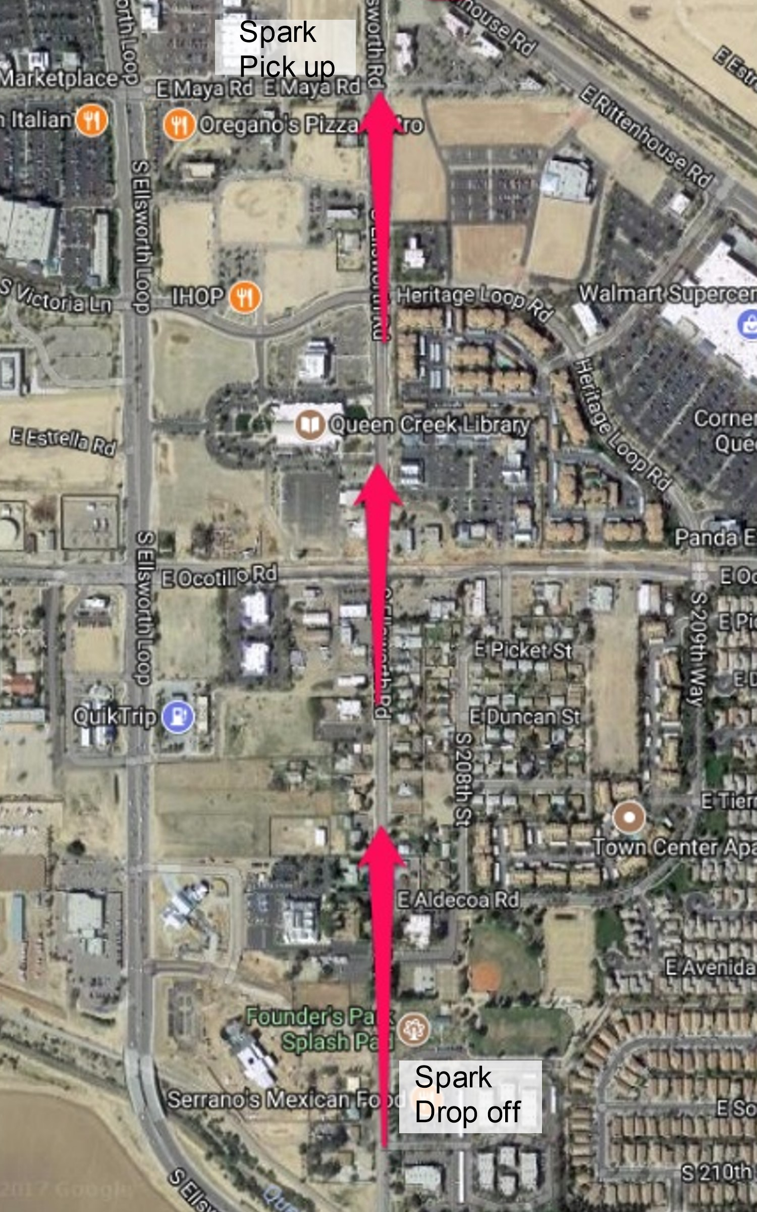 December 7th 2019 - There is a MANDATORY PRACTICE on Friday 12/6 6:45-8pm for students participating in the parade.Students who have registered for the parade will need to be dropped off at Serrano's at 2pm on Saturday 12/7. There is no parking at the drop off and parents will not be allowed out of their cars. Spark teachers will be at drop off to escort students to our float.Parents need to pick up their students along Maya Rd (south of the Dunn-Edwards paint store) after our float passes you. Once your student is picked up, you may return to your seat to watch the rest of the parade.City of Queen Creek Parade Information can be found HERE.