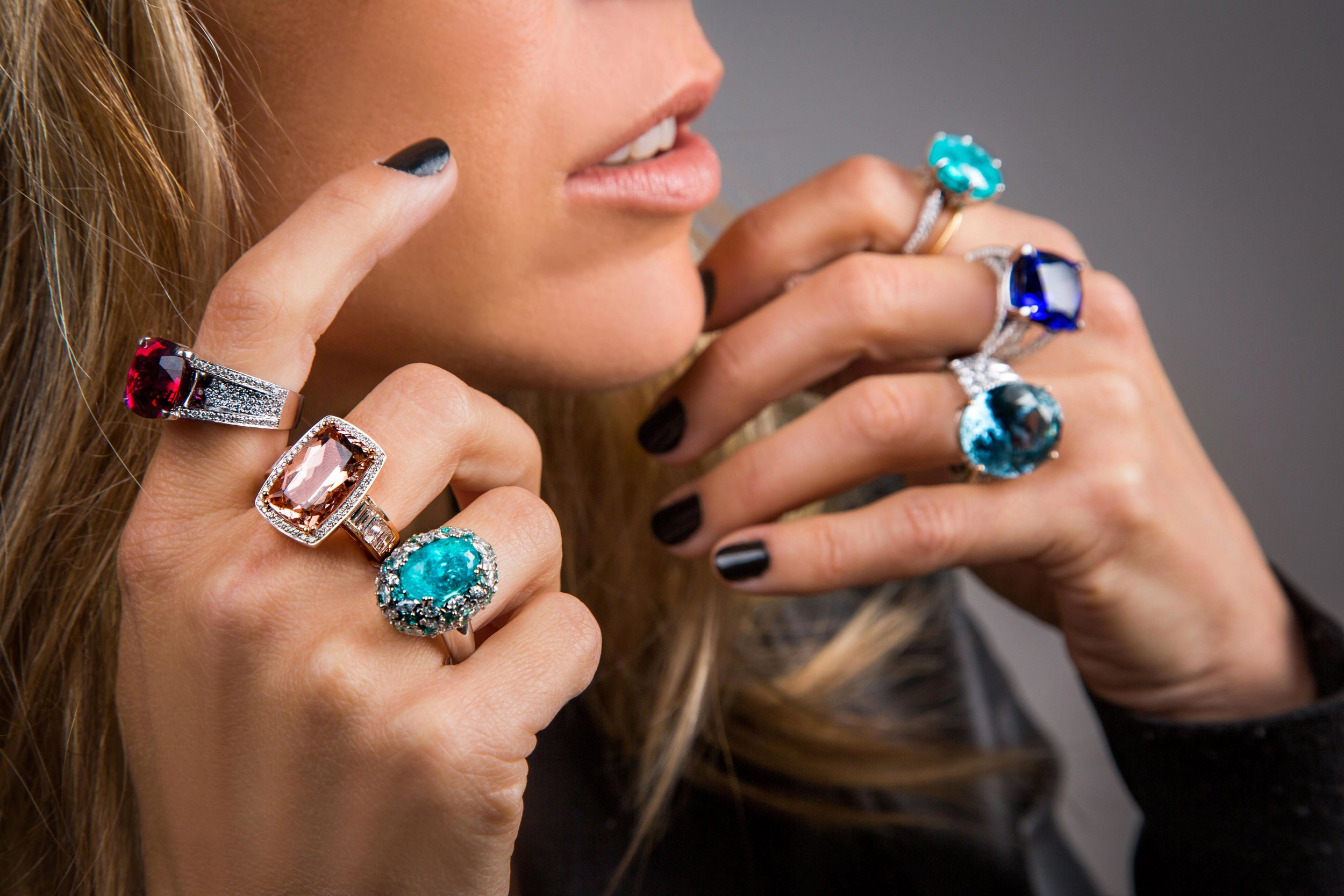 Exquisite handmade pieces - Paraiba, Mahenge Spinel, Sapphire