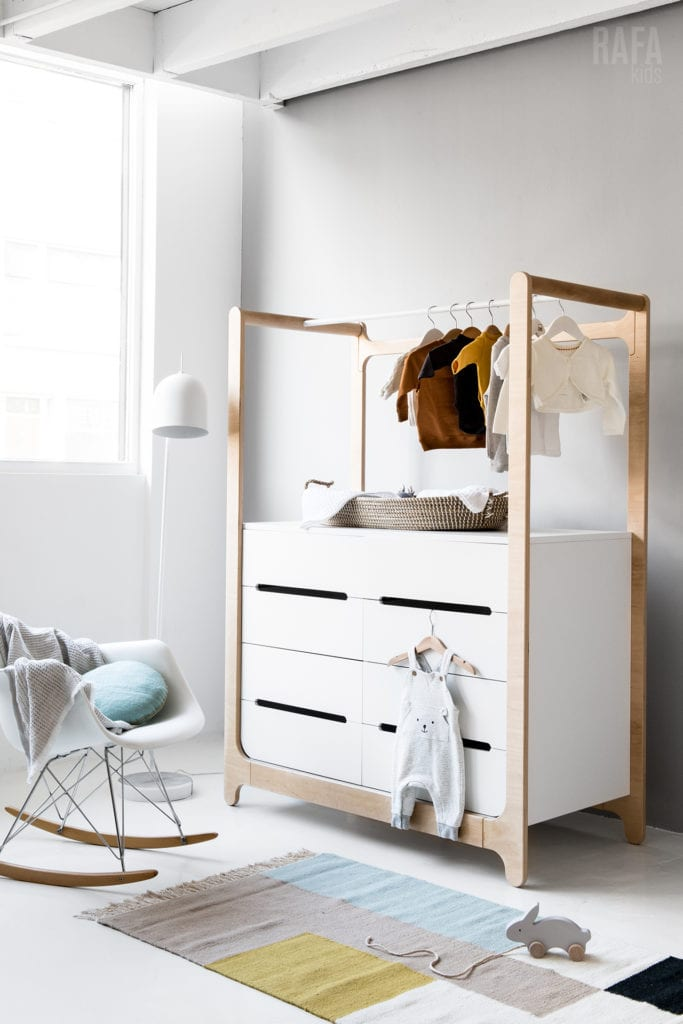 H Dresser - NEW Rafa-kids H dresser is comfortable storage furniture with drawers and a rack. Perfect for a nursery, great in playful toddler's room and stylish in a teen's room…