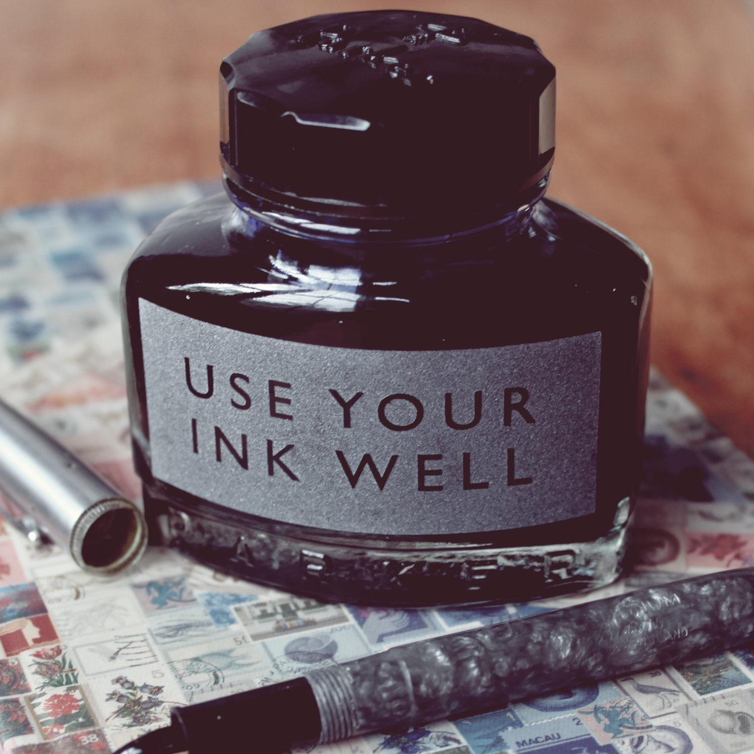 use-your-ink-well-etched-ink-bottle-vinegar-and-brown-paper.jpg