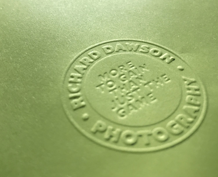 Emboss seal of authenticity – on the pre-order books only