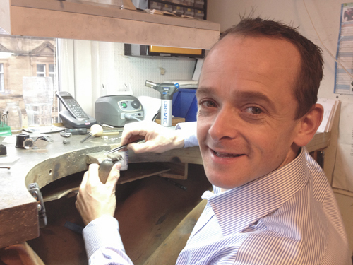 "Tim Swann - Director & Specialist Diamond Setter""With a creative streak throughout my school years, a career in the design and crafting of bespoke fine jewellery was just a natural progression."""