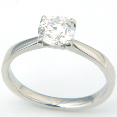 Platinum Four Claw Solitaire Diamond Engagement Ring 2.jpg