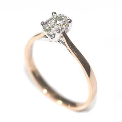 18ct Rose and White Gold Solitaire Oval Cut Diamond Engagement Ring 2.jpg