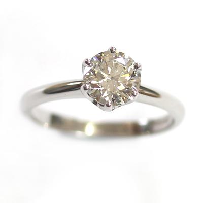 Platinum 6 Claw Tiffany Style Diamond Engagement Ring 2.jpg