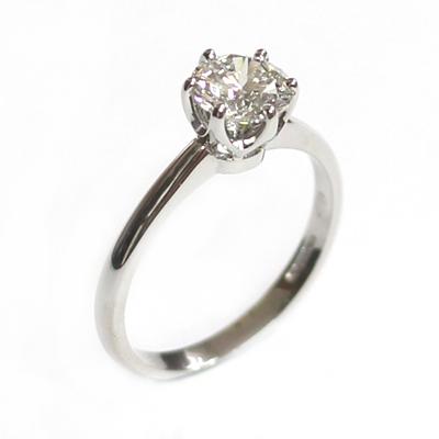 Platinum 6 Claw Tiffany Style Diamond Engagement Ring 1.jpg