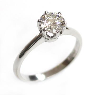 Platinum 6 Claw Tiffany Style Diamond Engagement Ring 3.jpg